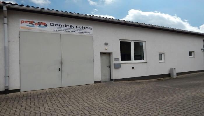 Außenansicht des Perform3D Produktionsgebäudes - Unternehmensportrait