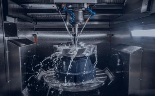 Momentaufnahme einer CNC Fertigung